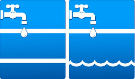 Background with tap and water drop Stock Images