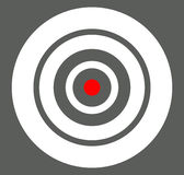Background with target, reticle, crosshair symbol. Icon for foca Stock Images