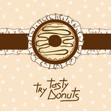 Background with tasty donut Stock Image