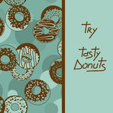Background with tasty donuts Stock Photography
