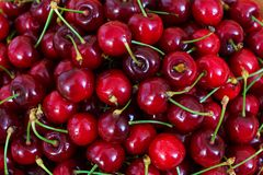 Background of tasty sweet cherry.  royalty free stock images