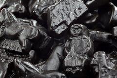 Background of tasty traditional liquorice Stock Photography