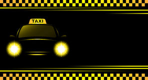 Background with taxi sign and cab Royalty Free Stock Photos