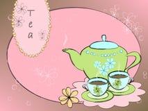 background tea 皇族释放例证