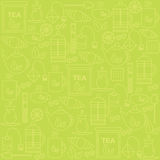 Background with tea icons. The pattern for your product or company. Royalty Free Stock Photography