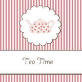 Background with teapot Stock Images