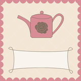 Background with teapot Royalty Free Stock Images