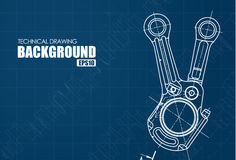 Background with the technical drawings of parts Royalty Free Stock Photo