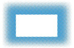 Background with technodots. Blue background with technodots on the white Stock Images