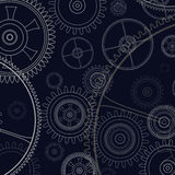 Background technology with gears Stock Photography