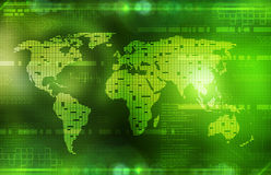 Background in technology and the world map Royalty Free Stock Image