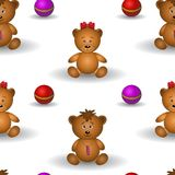 Background, teddy bears Stock Image