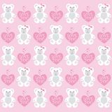 Background Teddy, Valentine's day Royalty Free Stock Photos