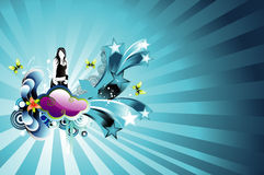 Background teen illustration Stock Photography