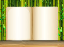 Background template with bamboo Stock Photography