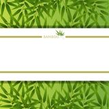 Background template with bamboo leaves. Illustration Royalty Free Stock Photography