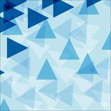 Background template with blue triangle shapes Royalty Free Stock Photo
