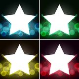 Background template with bright lights and star frames. Illustration Stock Images