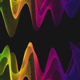 Background template with colorful wavy lines Stock Images