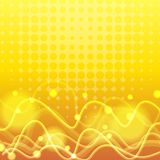 Background template with curve lines in yellow Stock Photography