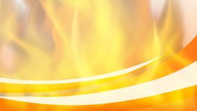 Background template with hot fire. Illustration Stock Photography
