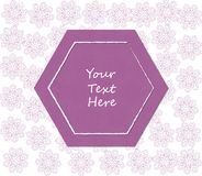 Background template of mandala flowers with a polygon shaped frame. royalty free illustration