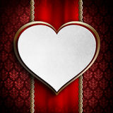 Background template of Valentine's day card. Background template of card on Valentine's day Stock Images