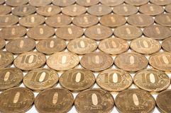 Background of the ten ruble coin Stock Image