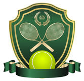 Background. Tennis emblem- creative design elements Royalty Free Stock Photography