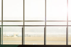 Background of terminal window in airport Stock Photos
