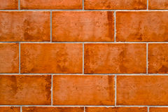 Background of terracotta bricks Stock Image