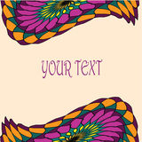 Background for text with bright abstract wing top and bottom Royalty Free Stock Photos