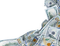 Background for text with dollar banknotes Stock Image