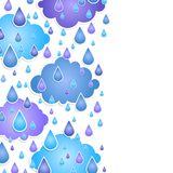 Background for text with  drops of a rain Royalty Free Stock Image