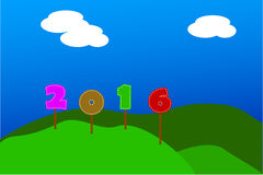 Background - Text Happy New Year (2016) Royalty Free Stock Photos