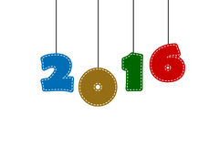 Background - Text Happy New Year (2016) Royalty Free Stock Image