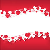 Background for text with hearts Stock Photography