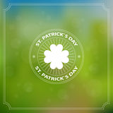 Background with the text and a pattern. Day of Patrick. Stock Photography