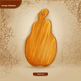 Background for text with wooden cutting board.  Royalty Free Stock Images