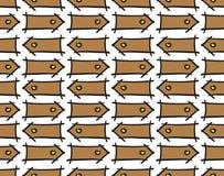 Doodle arrows pattern stock image