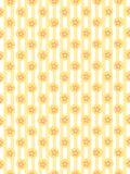 Background  textile vector. Background textile yellow vector with sphere and flowers Vector Illustration