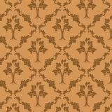 Background texture. With damask motif, vector art Royalty Free Stock Photo