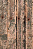 Background Texture abstract -  wood, rivets, peeling paint and n Stock Photo