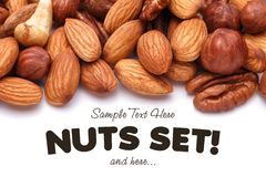 Background texture of assorted mixed nuts Stock Photography