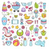 Background, texture, backdrop, pattern, wallpaper with children cartoon doodle toys. Educational games for kids. Background, texture, backdrop, pattern wallpaper Stock Photo