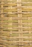 Plain bamboo basket weave background. Background of texture of big bamboo basket weave Royalty Free Stock Image