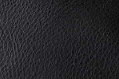 Background with texture of black leather Stock Photos