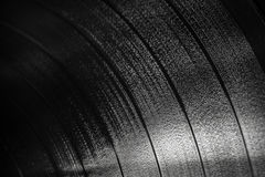 Background texture of black vinyl record Royalty Free Stock Images