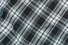 The background, texture of black-and-white checkered linen fabric Royalty Free Stock Image
