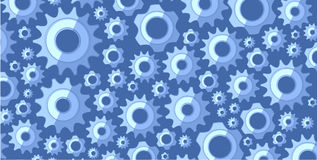 Background or texture with blue gear set Royalty Free Stock Images